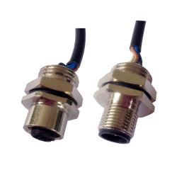 M12 3 4 5 8 Контакт поляков Женщины Мужчины прямо металлической панели установите Sockect разъем с проводами для пайки чашки водонепроницаемый (IBEST)