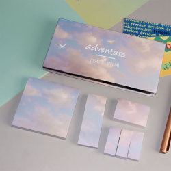 홍보 학교 사무실 액세서리 스티키 메모 패드 노트 상자