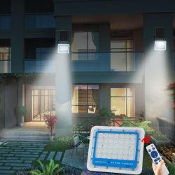 IP66 방수 기능의 실외 열 100W 에너지 절감 솔루션 태양광 LED 조명 홍수광 조명 태양열 캠핑 조명
