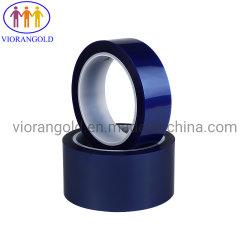 Высокая температура Пэт силиконовые ленты, синий, общее Tinckness: 50um, основу пленки толщиной 25мкм, силиконовый, цедры силу: 500-1000g/25мм без выброса гильзы цилиндра