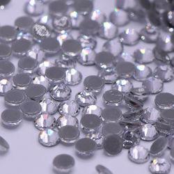 Revisión posterior plana de cristal de vidrio de mejor venta Rhinestones