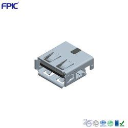 Cargador de electrónica de consumo USB 2.0 de 90 grados/180 grado baño montado Jack con certificación de TID.