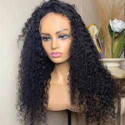 سعر الجملة 8-40 بوصة عالية الوضوح Lace جبهة أفريقية مسبقة عقدة مبلِّضة مبلِّبة شعر بشعر مستعار