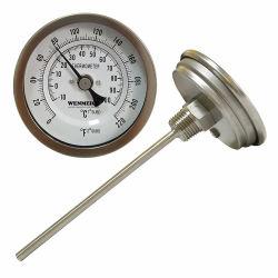 口径測定のバイメタルの止められたアナログの台所ワインの醸造の温度計