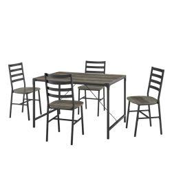 7 pezzi Sala da pranzo Set grossista Mobili in metallo