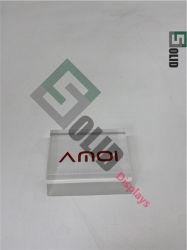مخصص صلب واضح اللون بلاسكرسيلاس أكريليك عرض العلامة التجارية الشعار كتلة علامة تجارية لشعار الأكريليك Cube