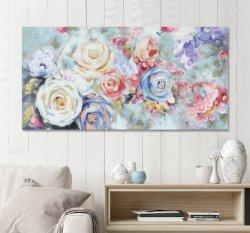 유화. 꿈의 꽃 벽 아트 캔버스 아트 올 - 200709 사이즈 60X30 인치 벽 사진