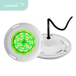 초박형 6W 따뜻한 백색/쿨 화이트/RGB 컬러 월 장착 IP68 LED 수중 수영장 조명