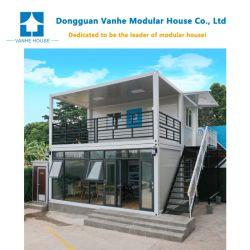 中国のモジュラー小さいプレハブのオフィスのホーム輸送箱の家を構築する贅沢なプレハブの携帯用キャラバンの木の移動式キャンプの鉄骨構造
