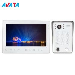 Ahd 960p 1080P 7inch 4 철사 내부전화 영상 내부통신기 광각 렌즈 사진기를 가진 지능적인 보안 장치
