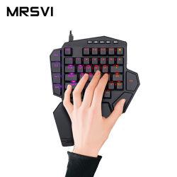 DITI K585 RGB Juego mecánico Mini teclado con tecla Macro Y concentrador USB