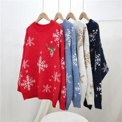 2021 hiver lourd tricotés personnalisé pull pullover à Noël pour les femmes