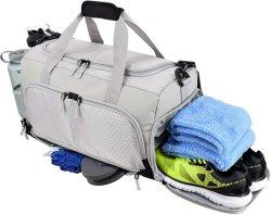 Grande capacidade de fabrico chinês Ginásio impermeável bag bolsa Fitness Moda Ultimate Projetado Travel Duffle Bag com sapatos de suportes para garrafas de bolso molhado compara