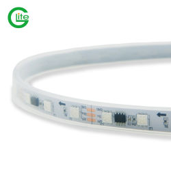 Ws2811 مصباح LED بكسل RGB الرقمي القابل للعنونة، 60LED مرن شريط بكسل LED أبيض دافئ