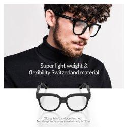 Kit mains libres bluetooth 5.0 Lunettes de soleil lunettes polarisées Anti-Blue Smart avec lentille de lumière