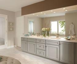 Agitador gris sólido estilo de cocina de madera de cerezo, armario con puertas levante