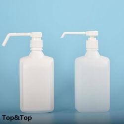 HDPE personalizada médico spray 500 ml de alcohol en gel higienizador por lavado de manos de la bomba de plástico de botella con el fabricante de boquilla larga