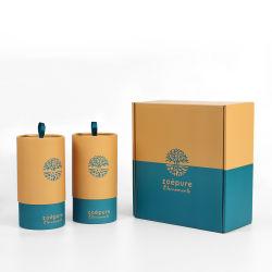 Firstsail 맞춤형 친환경 판지 실린더 박스 크래프트 종이 튜브 물병 손잡이가 달린 포장 음식 커피 콩 욕조 솔트 티