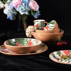 Китайский дешево настроить Кубок кухоньки керамический фарфоровый ужин набор