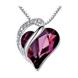 День Святого Валентина на основе наборов ювелирных изделий серебро AAA КУБИЧЕСКИЙ ЦИРКОН CZ Циркон красного сердца ожерелья шпильки крепления серьги подарочные наборы свадьбы,