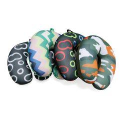 Colorido Personal Imprimir cordones Micro cuello Almohada de viaje soporte reposacabezas en forma de U para viajar Tour Sleeping Almohada
