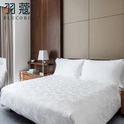 أبيض جاكار كتّان لأنّ فندق إستعمال لأنّ 5 نجم فندق نوعية قطن [بد لينن]