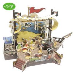 مخصص قارب القراصنة نموذج 3 D Toys لغز بانوراما للأنواع التي يمكن تعديلها من قبل مشغلي DIY