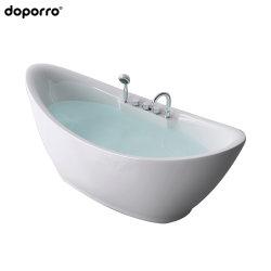 Independiente de material acrílico bañera en Blanco brillo