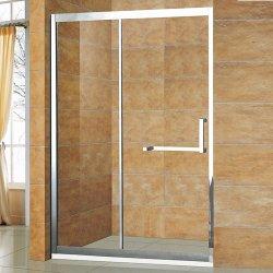 8 mm en acier inoxydable porte en verre avec marbre artificiel fait Jamb douche en pierre