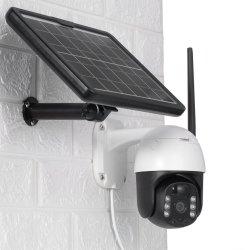 1080p Full HD PTZ impermeable al aire libre de la cámara de seguridad CCTV vigilancia inteligente de energía solar la cámara IP inalámbrica WiFi