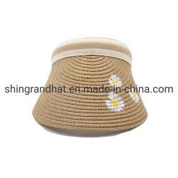 여름 바닷가 옥외 여행 반대로 UV 일요일 그늘 종이 밀짚 끈목 챙 모자