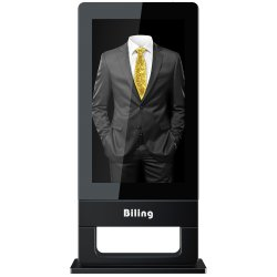 3D LCD 광고 스크린 55 인치 공냉식 수직 스크린 지면 Ultra-Thin 옥외 광고 기계 LED 디지털 Signage CCTV LCD 모니터