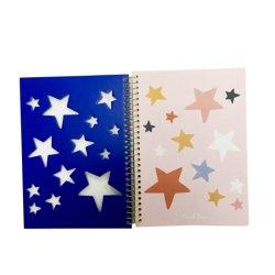 Notebook espiral Planner Tampa mais brilhantes do prémio de impressão por escrito dentro de papel personalizado