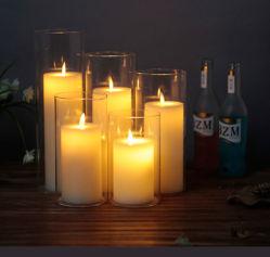 Wiederaufladbare Flammenlose elektrische Teelicht LED-Kerze