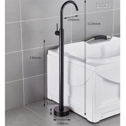 Bacia do clássico de latão cromado de torneira para banheira banheiro piso polido torneira