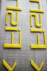 3D In reliëf gemaakte Etiket van de Druk van de Overdracht van de Hitte van het Silicone voor T-shirt