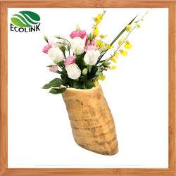 Bambú Natural Root Jarrón de flores decoración del hogar