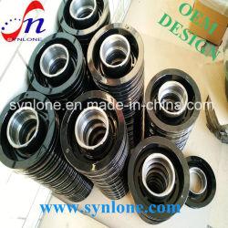 Smeden en machinaal frezen van zwarte poelie voor machineonderdelen