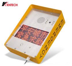 خدمة الهاتف الآمن في المدينة المساعدة في حالات الطوارئ الهاتف شاشة LED للاتصال بالطاقة الشمسية