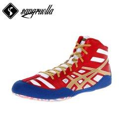 Sapatilhas de boxe Wrestling para atacado respirabilidade malha com borracha de camurça Fabricante de botas desportivas