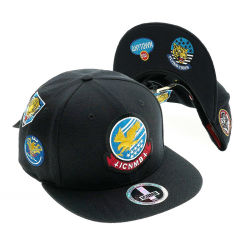 Diseñe su propio plano tapa personalizada bordados Mens Hat Hat Deportes Moda Tapa Snapback