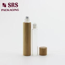 10ml el frasco de cristal el bambú con bola de metal para aceites