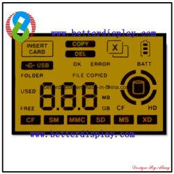 Customerized Stn gelbe negative kundenspezifische LCD Bildschirmanzeige