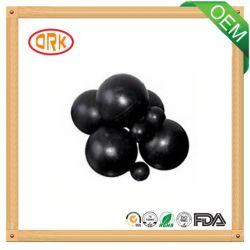 Petite bille lisse noire solide en caoutchouc de silicones de la pompe NBR EPDM Viton FKM de soupape