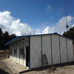 Camp d'alimentation de la Chine Conçu à faible prix des matériaux de construction préfabriqués qualifiés chambre