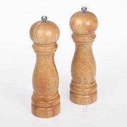 強く調節可能な陶磁器の粉砕機とのコショウ挽きの木製の陶磁器