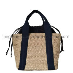 Handtaschen-Form-Strohtote-Sommer-Strand-Schulter-Beutel der Frauen