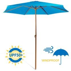 Sturdy 8FT Sombra Patio ventilado paraguas para la mesa al aire libre