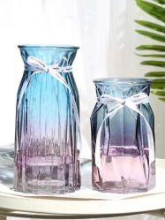 Botella de vidrio/Cristal artesanía/jar/ Vasija Jarrón de flores