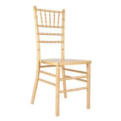결혼식이나 행사를 위한 솔리드우드 골드 컬러 치아바리 의자
